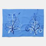 Árboles abstractos 4 toalla de cocina