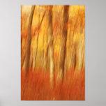árboles abstractos del otoño posters