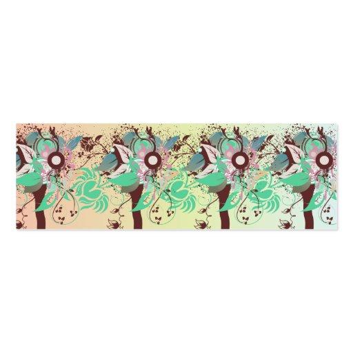 árboles abstractos del vintage tarjetas de visita mini
