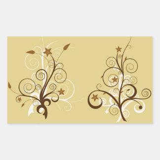 Árboles abstractos rectangular pegatinas