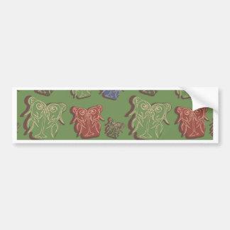 Árboles abstractos pegatina para auto