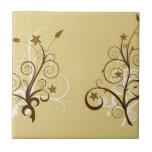 Árboles abstractos tejas  cerámicas