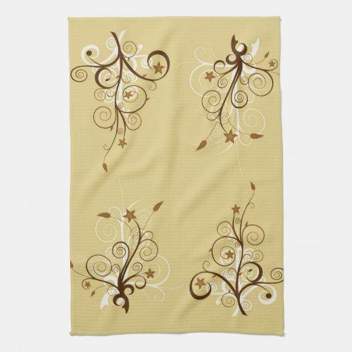 Árboles abstractos toalla de cocina