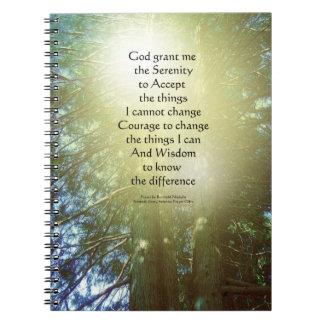 Árboles altos dos del rezo de la serenidad note book