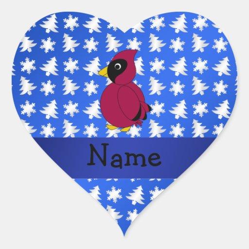 Árboles azules cardinales conocidos personalizados colcomanias corazon