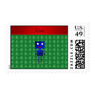 Árboles azules conocidos personalizados del verde sellos