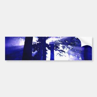 Árboles azules de la noche pegatina para auto