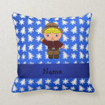 Árboles azules personalizados de los copos de almohadas