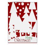 Árboles blancos mágicos tarjeta