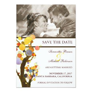 """Árboles caprichosos: Reserva del boda de la foto Invitación 5"""" X 7"""""""