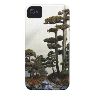 Árboles chinos de los bonsais del enebro iPhone 4 Case-Mate funda