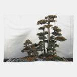Árboles chinos de los bonsais del enebro toallas