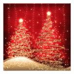 Árboles chispeantes de la fiesta de Navidad elegan