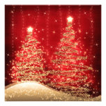 Árboles chispeantes de la fiesta de Navidad elegan Anuncios