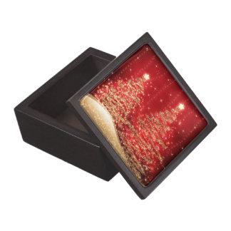 Árboles chispeantes del navidad elegante rojos cajas de regalo de calidad
