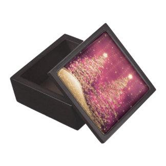 Árboles chispeantes del navidad elegante subiós caja de joyas de calidad