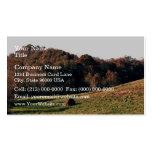 Árboles coloridos del otoño plantillas de tarjetas de visita