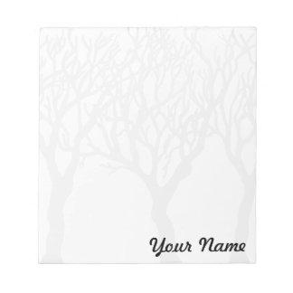 Árboles con su nombre - libreta adaptable bloc de papel