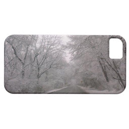 Árboles congelados iPhone 5 carcasas