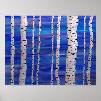 árboles de abedul impresiones