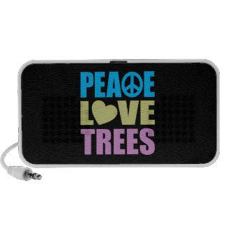Árboles de amor de la paz iPhone altavoz