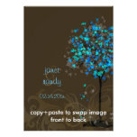 Árboles de arce azules eléctricos retros de PixDez Invitacion Personal