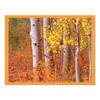 Árboles de Aspen en otoño Invitación 10,8 X 13,9 Cm