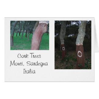 Árboles de corcho - Cerdeña, Italia Tarjetón