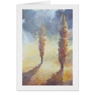 Árboles de Cypress Tarjeta De Felicitación