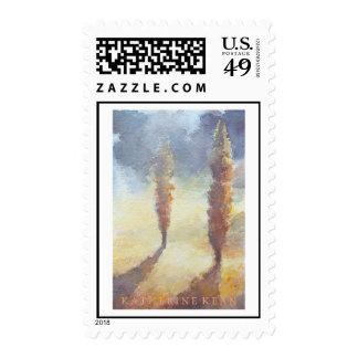 Árboles de Cypress Timbre Postal