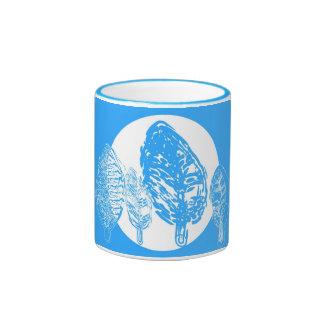 Árboles de Dodger y tazas azules de la luna