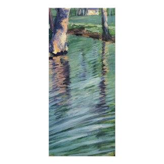 Árboles de Egon Schiele- reflejados en una charca Lona Publicitaria
