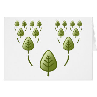 Árboles de familia tarjeta pequeña