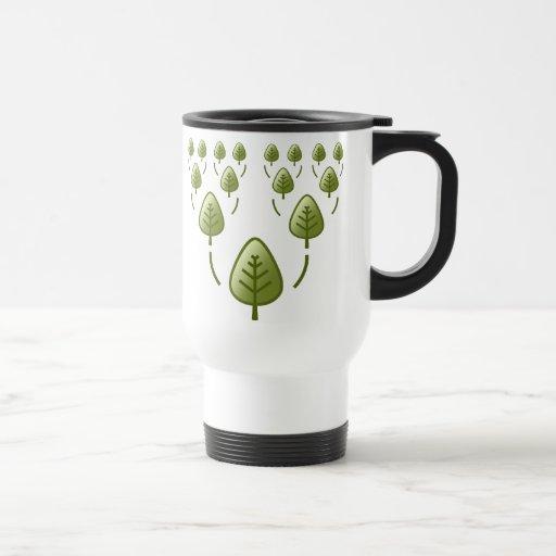 Árboles de familia taza de café