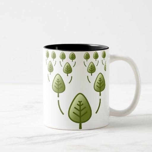 Árboles de familia taza de dos tonos