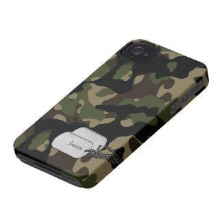 Árboles de Forrest y camuflaje de los militares iPhone 4 Case-Mate Protectores