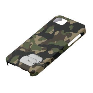 Árboles de Forrest y camuflaje de los militares Funda Para iPhone 5 Barely There