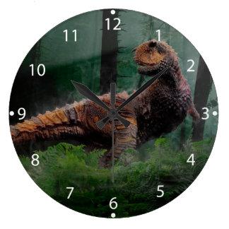 Árboles de hierba del período cretáceo del reloj redondo grande