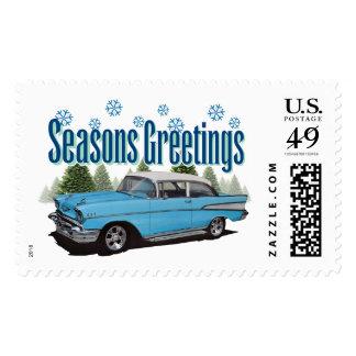Árboles de hoja perenne 1957 del Bel Air de Chevy Sellos Postales