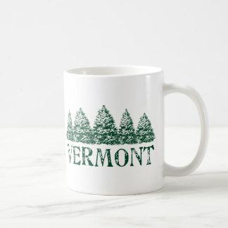 Árboles de hoja perenne del invierno del VT Tazas De Café