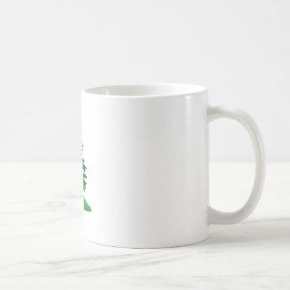 Árboles de hoja perenne taza de café