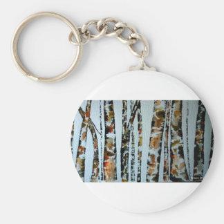 Árboles de la acuarela con color llaveros personalizados