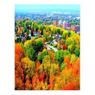 árboles de la escarpa del otoño de Hamilton Ontari Tarjeta Postal