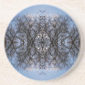 Árboles de la imagen de espejo posavasos manualidades