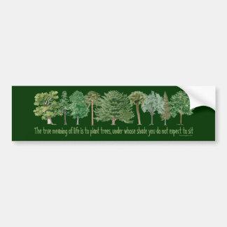 Árboles de la planta - amante del árbol, Hugger Pegatina De Parachoque