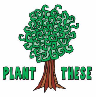 Árboles de la planta fotoescultura vertical