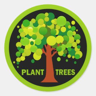 Árboles de la planta etiqueta