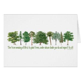 Árboles de la planta tarjeta de felicitación