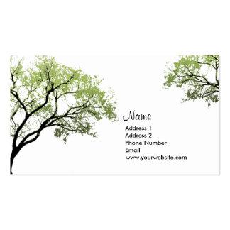 Árboles de la primavera tarjetas de visita
