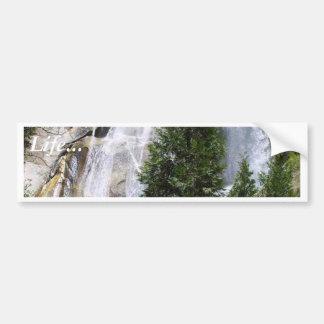 Árboles de las cascadas pegatina para auto